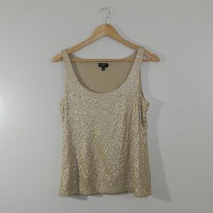 Talbots Gold Sequin Tank Top